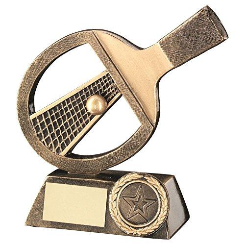 Lapal Dimension BRZ/Gold Tischtennisschläger/Net/Ball Trophy-(2,5cm Mitte) 5in -