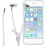 DURAGADGET Innovadores Auriculares Con Cremallera Para Apple iPod Touch ( 6 / 5 / 4 / 3 / 2 / 1 Generación ) - ¡Irá A La Última Con Este Modelo De Auricular!