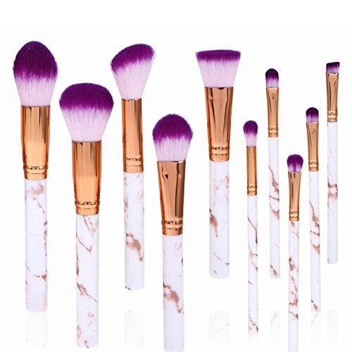 Popvcly 10 pcs Lot de pinceaux de maquillage pour le visage Lip œil