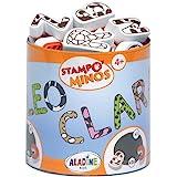 Aladine - Stampo Minos Alphabet Majuscule - Kit Tampons Enfant - Activités Manuelles Fille et Garçon - Encre Lavable - Jouets