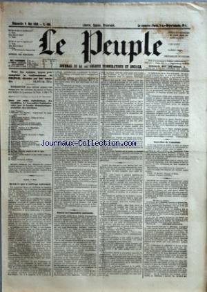 PEUPLE (LE) [No 168] du 06/05/1849 - COMITE DEMOCRATIQUE-SOCIALISTE DES ELECTIONS - MM. BAC - CARET - CHARASSIN - CONSIDERANT - D'ALTON-SHEE - DEMAY - GENILLER - GREPPO - HERVE - HEZAY - LAGRANGE - LAMENNAIS - LANGLOIS - LEBON - LEDRU-ROLLIN - LEROUX - MADIER DE MONTJAU - MALLARMEE - MONTAGNE - PERDIGUIER - PROUDHON - PYAT - RIBEYROLLES - THORE ET VIDAL - QU'EST-CE QUE LE SUFFRAGE UNIVERSEL - SEANCE DE L'ASSEMBLEE NATIONAL