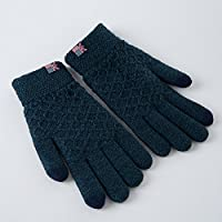 Unbekannt XIAOYAN Handschuhe Männer Herbst Winter Gestrickte Handschuhe warme männliche Verdickung Touch Screen 18-60 Jahre alt Bequem