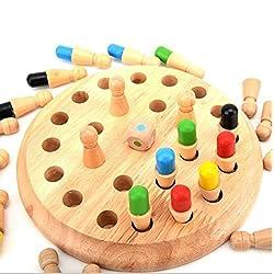Ajedrez de memoria Montessori niños de juguete de madera del bebé de memoria desarrollo compiten formación de Ajedrez de aprendizaje para la Educación Preescolar