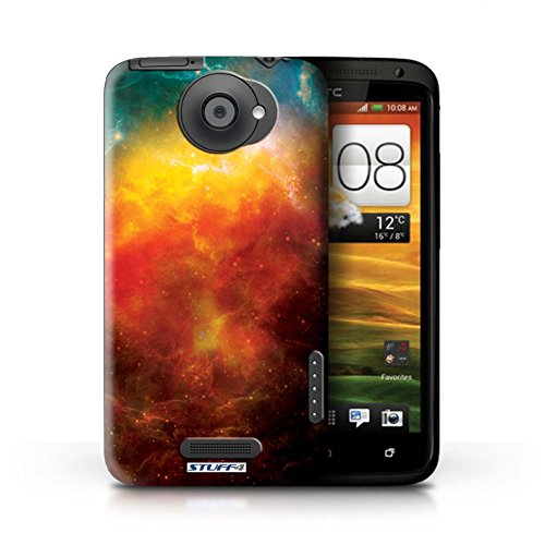 Kobalt® Imprimé Etui / Coque pour HTC One X / Éclipse Pourpre conception / Série Cosmos Nébuleuse Orange