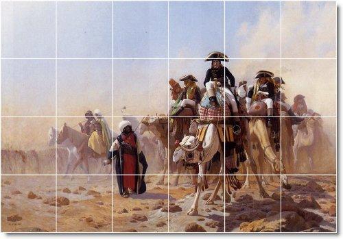 JEAN GEROME HISTORICA PARA AZULEJOS MURAL 28  24X 36PULGADAS CON (24) 6X 6AZULEJOS DE CERAMICA
