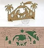 Grußkarte Puzzlekarte Weihnachten Krippenstall