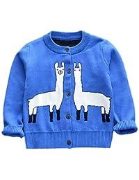Cárdigan Suéter de Punto para Bebés Niña Niño Chaquetas y Abrigos Ropa de Tejer Jerséis de Invierno Estampado de Dibujos Animados de Alpaca Blusas de Manga Larga Gusspower