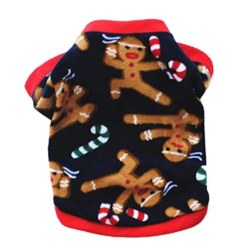 austier-Welpen Hunde-Bekleidung Katze Winter- Warme Jacke Weihnachten Snowflake Schneemann-Muster-Kostüm Kleidung Outfit Bekleidung (Plüsch Schneemann Kostüme)