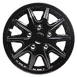 TopTech Revolution 15 Inch Wheel Trim Set Gloss Black Set of 4 Hub Caps Covers