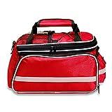 onesky-uk borsa laterale per bici, sedile posteriore bagagli pacchetto, multi funzione escursione ciclismo equitazione viaggio borsetta, impermeabile antipioggia di grande capacità tronco Bags, Red