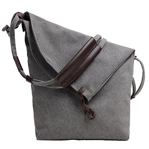 paracity Große Damenumhängetasche, Leinenstoff, Schultertasche, leger, für Damen/Mädchen/Studenten (Travel Bag Studded)