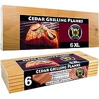 6 XL Grillbretter/Grillplanken aus Zedernholz in ÜBERLÄNGE – 6er Pack