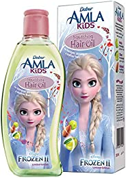 Dabur Amla Kids; Long, strong and soft hair ; Enriched with Amla,Olive, Almond; Natural oils, Vitmain E; 200 M