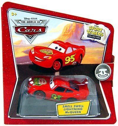 Disney / Pixar CARS Movie 1:55 Die Cast Story Tellers Collection Smell Swell Lightning McQueen by Mattel