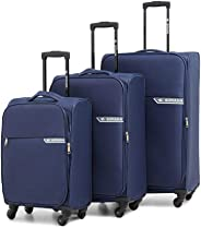 Sonada | Starlight Soft trolley | Set of 3 Suitcases | Navy Color