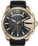 Diesel bracelet de montre DZ4344 Cuir Noir 26mm (SEULEMENT LE BRACELET DE MONTRE - MONTRE NON INCLUE!)