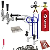 Kegco BF DHCK2 Deluxe Two Faucet Homebrew Kegerator Conversion Kit, Stainless Steel by Kegco