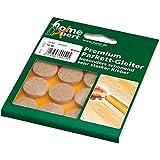 Home Xpert Feltrini per parquet, mod. PREMIUM, diverse misure, marrone chiaro, Made in Germany, Feltro, Ø 22 mm, 16 Stück