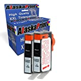 Premium 2x Kompatible Tintenpatronen Als Ersatz für HP 364 XL Schwarz für Photosmart b110 5510 5515 5514 5520 Schwarz Black BK