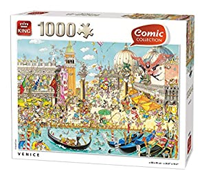 King 55842 - Puzzle (1000 Piezas, 68 x 49 cm), diseño de cómic