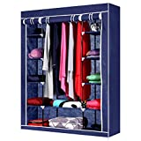 #7: Tied Ribbons Collapsible Wardrobe/Almirah for Clothes(Blue)