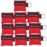 LSIKA-Z Paquete de 10pcs CPR Máscara Llavero Anillo de Emergencia Kit Rescate Face Shields
