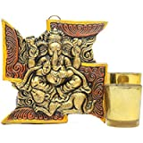Creative Ganesha Idols With T-light Holders - Ganesh 1, T Light Holder 2, Decorative T Light, Home Décor Item, T Light Online, Diwali Gifts, Hanging Ganesh, Wall Décor Item - DIWALIGIFTS113130