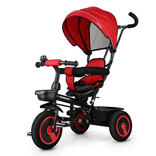 Fascol 6 en 1 Tricycle pour Enfants avec Siège Pivotant Convient pour...