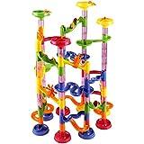 Circuit de billes - Toboggan à billes 111 pièces - 36 billes en verre incluses - jeu educatif construction eveil enfant