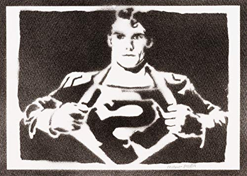 Superman Poster Plakat Handmade Graffiti Street Art - Artwork