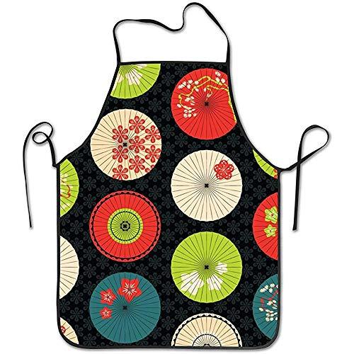 Dsfa ombrelli colori estivi grembiule da cucina impermeabile grembiuli comodi e facili da pulire 52 * 72 cm