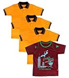 DT GARMENTS Boys' T-Shirts -Pack of 4 (DT Garments 076--XL, Multi-Coloured, X-Large)