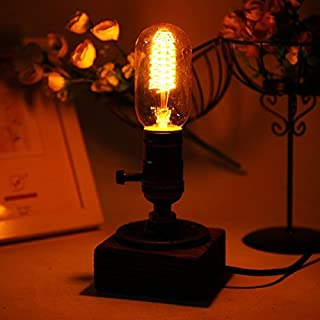 akldigital Vintage Edison Retro Table Lamp T45 Dimmable Water Pipe Light