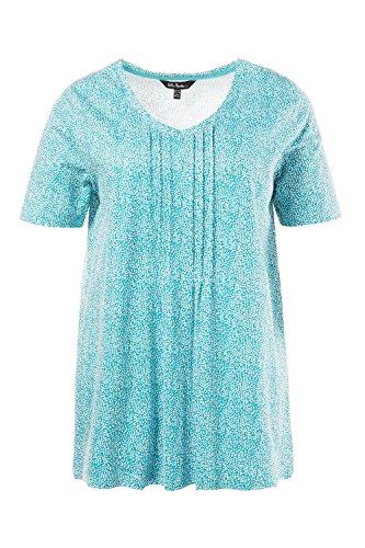 Ulla Popken Damen Sweatshirt Shirt mit Minimal Smaragd