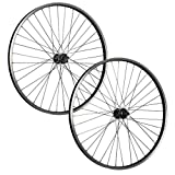 Taylor Wheels 26 pollici set ruote bici Büchel raggi Nirosta disco 6 fori nero