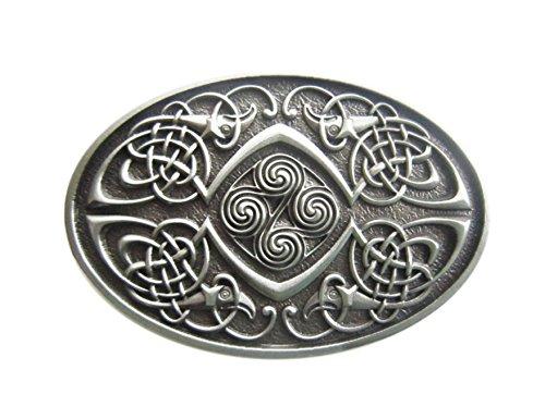 Herren Silber Gürtelschnalle (Gürtelschnalle Celtic Keltischer Knoten Phoenix 3D Optik für Wechselgürtel Gürtel Schnalle Buckle Modell 105 - Schnalle123)
