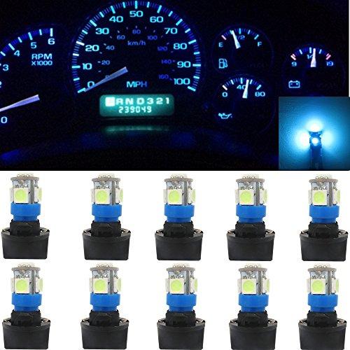 WLJH 5050-5SMD LED Lampe 2825 168 194 LED Instrumententafel Cluster Gauge Dashboard Anzeige Beleuchtung 12 V Lampe W / Twist Lock Sockel (10 stücke, Eisblau) (194 Twist-lock)