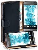 moex Booklet mit Flip Funktion [360 Grad Voll-Schutz] für HTC One M9 | Geldfach & Kartenfach + Stand-Funktion & Magnet-Verschluss, Schwarz