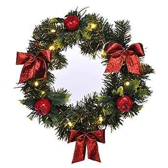 led beleuchteter t rkranz mit dekokugeln kranz weihnachtskranz adventskranz beleuchtung. Black Bedroom Furniture Sets. Home Design Ideas