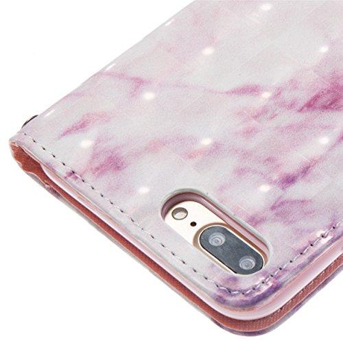 Coque pour Apple iPhone 7 Plus / iPhone 8 Plus WYSTORE Coloré Motif PU Cuir portefeuille Housse Etui pour iPhone 8 Plus/7 Plus(Ecran: 5.5 pouces) Case Coque Protection avec Béquille Flip Cover avec ca A03