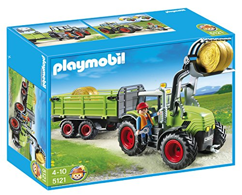 PLAYMOBIL Granja -Tractor con tráiler (5121)