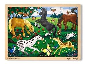 Melissa & Doug Frolicking Horses Wooden Jigsaw Puzzle With Storage Tray (48 pcs)