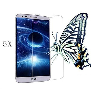 zzll151 [5-Pack]Professional High Transparency LCD Crystal Clear Screen Protector with Cleaning Cloth for LG G2 KKKAOOL (Lg G2 Screen Protector)