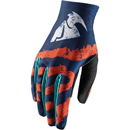 Thor Void Kinder Handschuhe Rampant Enduro Offroad Cross Motocross Quad Blau Rot (M, Blau / Orange) (Motocross Mädchen Jersey)