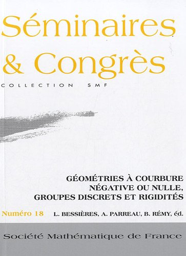 Gomtries  courbure ngative ou nulle, groupes discrets et rigidits