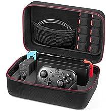 Custodia per Nintendo Switch - Younik Case da viaggio Rigido Deluxe per Console Switch, Dock Switch, Caricabatteria Originale, Cavo HDMI, Controller Pro e 10 Cartucce di gioco