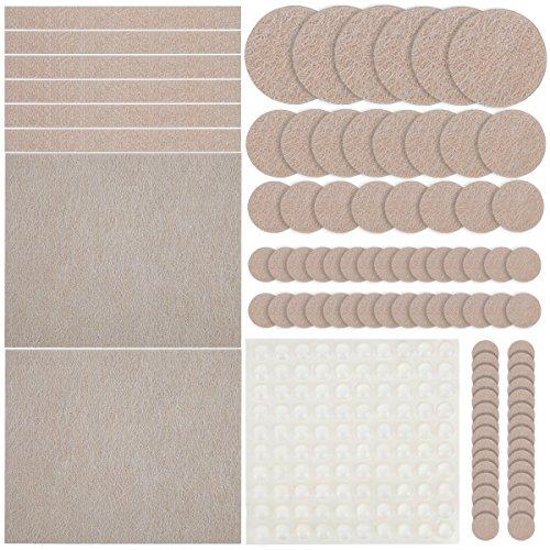 Möbel Pads, Ankier 154 Stück Premium Selbstklebende Filzgleiter Für Möbel  Mit 64 Transparent Gummi Pads Für Ihre Hartholz U0026 Laminat (beige)