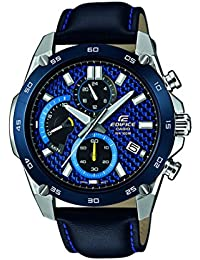 Casio Edifice Herrenuhr Analog Quarz mit Edelstahlarmband – EFR-557BL-2AVUEF