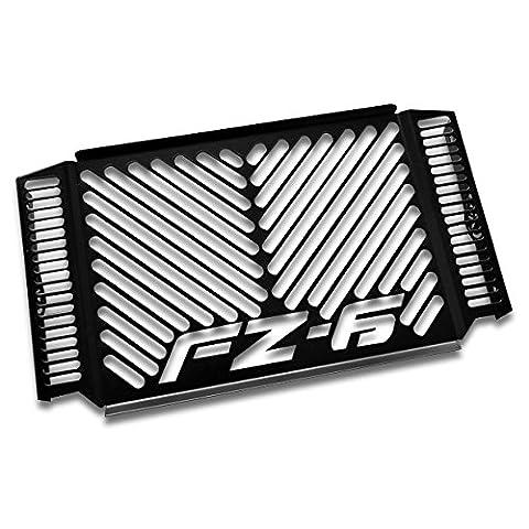 Protections radiateur Yamaha FZ6 S2/ Fazer S2 07-10 Inox noir logo