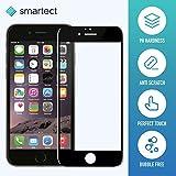 smartect iPhone 6/6s Panzerglasfolie 3D Curved Schwarz - Displayschutz mit 9H Härte - Panzerglas Bedeckt Ganzes Display Komplett Full Cover